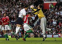 Photo: Paul Thomas.<br /> England v Hungary. International Friendly. 30/05/2006.<br /> <br /> John Terry headers in England's second goal.