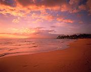 Sunset, Wailea Beach, Wailea, Maui, Hawaii, USA<br />