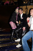 Pam Hogg and Duggie Fields. 25th anniversary party and fashion show by Agent Provocateur at the Cafe de Paris, Coventry Street, London W1 on 14th February 2005.ONE TIME USE ONLY - DO NOT ARCHIVE  © Copyright Photograph by Dafydd Jones 66 Stockwell Park Rd. London SW9 0DA Tel 020 7733 0108 www.dafjones.com
