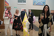 BOB AND ROBERTA SMITH; JEAN WAINWRIGHT; FRANCESCA BELLINI, Royal Academy Summer Exhibition party. Burlington House. Piccadilly. London. 6 June 2018