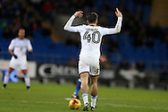 Jack Grealish of Aston Villa holds up his hands to appeal for a free-kick. EFL Skybet championship match, Cardiff city v Aston Villa at the Cardiff City Stadium in Cardiff, South Wales on Monday 2nd January 2017.<br /> pic by Andrew Orchard, Andrew Orchard sports photography.