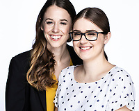 Portraits of Elizabeth and Rachel Theil in Hamilton, ON.  Photo by Michael P. Hall