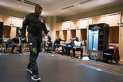 LAS VEGAS, NV - JULY 9:  Daniel Cormier warms up in the locker room before UFC 200 at T-Mobile Arena on July 9, 2016 in Las Vegas, Nevada. (Photo by Cooper Neill/Zuffa LLC/Zuffa LLC via Getty Images) *** Local Caption *** Daniel Cormier