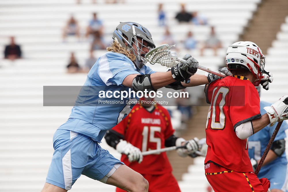 CHAPEL HILL, NC - MARCH 22: Jake Matthai #6 of the North Carolina Tar Heels during a game against the Maryland Terrapins on March 22, 2014 at Kenan Stadium in Chapel Hill, North Carolina. North Carolina won 11-8. (Photo by Peyton Williams/Inside Lacrosse)