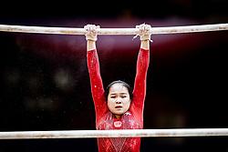 October 28, 2018 - Doha, Quatar - Huan Luo of China   during  Uneven Bars qualification at the Aspire Dome in Doha, Qatar, Artistic FIG Gymnastics World Championships on 28 of October 2018. (Credit Image: © Ulrik Pedersen/NurPhoto via ZUMA Press)