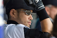 Seattle Mariners' Ichiro Suzuki in the dugout during the game against the Boston Red Sox at Safeco Field.