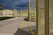 The walkway betweens wings at HMP & YOI Littlehey. Littlehey is a purpose build category C prison.