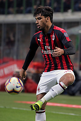 March 2, 2019 - Milan, Milan, Italy - Lucas Paqueta' #39 of AC Milan in action during the serie A match between AC Milan and US Sassuolo at Stadio Giuseppe Meazza on March 02, 2019 in Milan, Italy. (Credit Image: © Giuseppe Cottini/NurPhoto via ZUMA Press)
