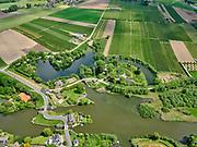 Nederland, Gelderland, Herwijnen, 14-05-2020; oorspronkelijk Fort bij de Nieuwe Steeg, Nieuwe Hollandse Waterlinie. Tegenwoordig GeoFort, wetenschapsmuseum  voor kinderen.<br /> Originally Fort at the Nieuwe Steeg, now GeoFort, science museum for children.<br /> <br /> aerial photo (additional fee required);<br /> copyright foto/photo Siebe Swart