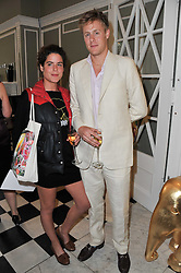 DAISY FRASER and HARRY BEAMISH at a party to celebrate the 60th birthday of Mark Shand and the 50th birthday of Tara the elephant held at 29 Portland Place, London on 25th May 2011.