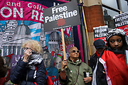 Thousands turn out in protest against the increasing use of military force by Israel and in support of Gaza on the 15th of May 2021, London, United Kingdom. The escalating war between Israel and Hamas in Gaza is increasingly costing lives and the up to 100.000 protesters were calling for Israel to stop bombing Gaza and for a free Palestine.