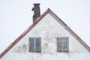 Home in snow storm, Snaefellness Peninsula, Iceland
