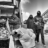 Saint Denis multi ethnic suburb of  Paris during Covid 19 pandemic.