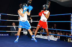 TV presenter LOUISA WHITE (blue shorts) and GEORGIE DOWNIE (red shorts) at the Boodles Boxing Ball in aid of the sports charity Sparks  organised by Jez lawson, James Amos and Charlie Gilkes held at The Royal Lancaster Hotel, Lancaster Terrae London W2 on 3rd June 2006.<br /> <br /> NON EXCLUSIVE - WORLD RIGHTS