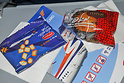 In flight snacks on a Travel Service Airlines (Czech Republic) Boeing 737-800