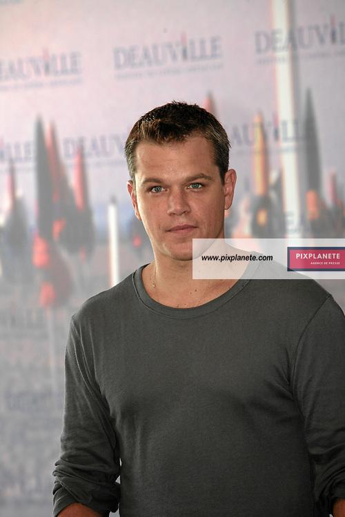 Matt Damon Présentent The Bourne Ultimatum - Photocall - Festival du Film Américain de Deauville - 1/09/2007 - JSB / PixPlanete