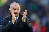 Burnley Manager Sean Dyche applauds the fans. Premier League match, Burnley v Crystal Palace at Turf Moor in Burnley , Lancs on Saturday 5th November 2016.<br /> pic by Chris Stading, Andrew Orchard sports photography.
