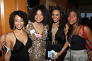 l to r: Melyssa Ford, Jaime Foster, Janelle Snowden and Danica Daniel at the Maxwell Press conference announcing his first new album in eight years, ' BLACKsummers'night,'  held at The Sony Club on April 28, 2009 in New York City