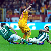 Galatasaray's Engin BAYTAR (C) during their Turkish Super League soccer match Galatasaray between Bursaspor at the TT Arena at Seyrantepe in Istanbul Turkey on Sunday 16 October 2011. Photo by TURKPIX