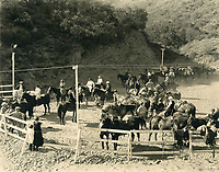 1926 Hollywoodland Riding Stables at the north end of Beachwood Dr.