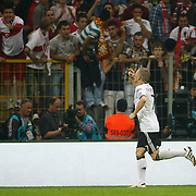 Germany's Bastian SCHWEINSTEIGER celebrate his goal during their UEFA EURO 2012 Qualifying round Group A matchday 19 soccer match Turkey betwen Germany at TT Arena in Istanbul October 7, 2011. Photo by TURKPIX