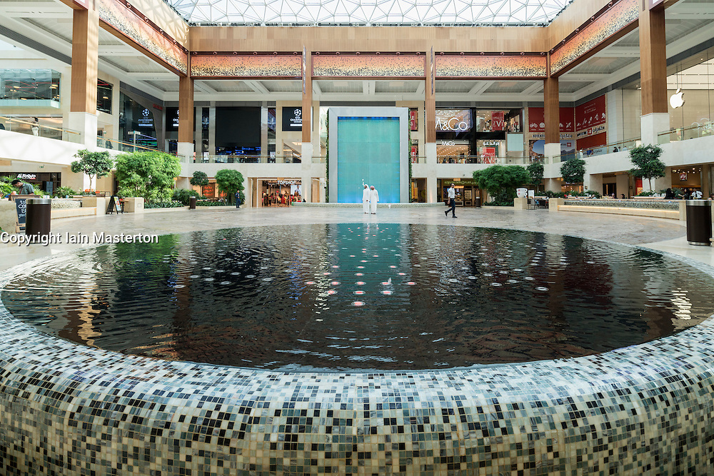 Interior of atrium at new Yas Mall on Yas Island in Abu Dhabi United Arab Emirates