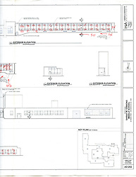 Sarah Gibbons Middle School Pre-Demolition Documentation. Key Plan Number 14 of 15