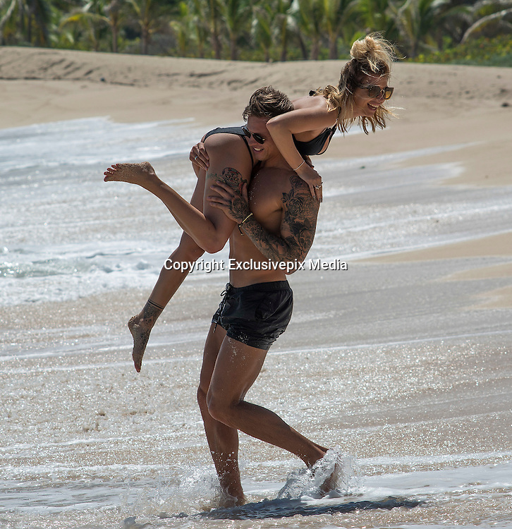 EXCLUSIVE<br /> Love Islands Olivia Buckland and boyfriend Alex enjoying there time in Barbados<br /> ©islandpaps/Exclusivepix Media