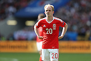 Jonathan Williams of Wales looks on. Euro 2016, Wales v Slovakia at Matmut Atlantique , Nouveau Stade de Bordeaux  in Bordeaux, France on Saturday 11th June 2016, pic by  Andrew Orchard, Andrew Orchard sports photography.