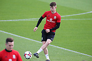 Ben Woodburn of Wales in action during the Wales football team training at the Vale Resort, Hensol , South Wales on Monday 2nd October 2017, the team are preparing for their FIFA World Cup qualifier away to Georgia this week. pic by Andrew Orchard, Andrew Orchard sports photography