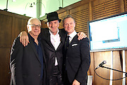 DON BOYD; RICHARD STRANGE; GARY KEMP, The launch party of HiBrow and A Mighty Big If. ÊThe Crypt. St. Martins in the Fields. London. 24 January 2012<br /> DON BOYD; RICHARD STRANGE; GARY KEMP, The launch party of HiBrow and A Mighty Big If.  The Crypt. St. Martins in the Fields. London. 24 January 2012
