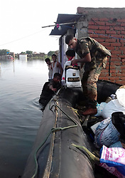 August 21, 2017 - Madhubani, Bihar, India - Bihar: Army personnal rescue people trapped in flooded area of Madhubani district of Bihar on 21-08-2017. (Credit Image: © Prabhat Kumar Verma via ZUMA Wire)