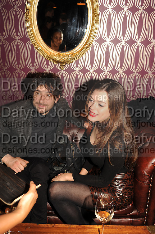 ALEX ZANE; IRAINA MANCINI, The VIP night for Cirque Du Soleil: Quidam at  the Royal Albert Hall, London. 7 January 2013