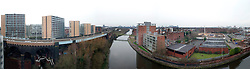 A joiner View of Manchester from the Water street area with Bridgewater way on the left looking towards Old Trafford the home of Manchester United..www.pauldaviddrabble.co.uk..29 January 2012 -  Image © Paul David Drabble