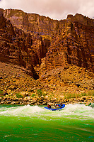 Whitewater rafting, 24 Mile Rapid, Marble Canyon, Grand Canyon National Park, Arizona USA