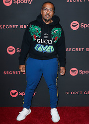 LOS ANGELES, CA, USA - NOVEMBER 16: Spotify's Secret Genius Awards 2018 held at The Theatre at Ace Hotel on November 16, 2018 in Los Angeles, California, United States. 16 Nov 2018 Pictured: Timbaland, Timothy Zachary Mosley. Photo credit: Xavier Collin/Image Press Agency/MEGA TheMegaAgency.com +1 888 505 6342
