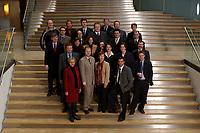 19 FEB 2003, BERLIN/GERMANY:<br /> Obere Reihe, v.L.n.R.: Juergen Neumeyer (Mitarbeiter), Gabriele Frechen, Sascha Raabe, unbekannte Person, 2. Reihe, v.L.n.R.: Soeren Bartol, Michael Hartmann, Ulrich Kelber, Karsten Schoenfeld, Gesine Multhaupt, 3. Reihe, v.L.n.R.: Siegmund Ehrmann, Ute Berg, Sabine Baetzing,  Carole Reimann, Hubertus Heil, Andreas Weigel, 4. Reihe, v.L.n.R.: Martin Doermann, Christian Lange, Nina Hauer, Kerstin Giese, Anton Schaaf, Untere Reihe, v.L.n.R.: Andrea Wicklein, Caren Marks, Sebastian Edathy, Hans-Peter Bartels, Mitglieder des Netzwerk Berlin (nicht komplett), Gruppe junger SPD Abgeordneter des Deutschen Bundestages<br /> IMAGE: 20030219-03-017<br /> KEYWORDS: MdB´s, Youngster
