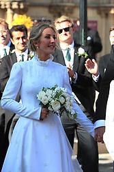 Newly married Ellie Goulding leaves York Minster after her wedding to Caspar Jopling.