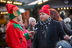 The Scottish Elf Minister interviewing Labour's Ian Murray at The Star Flyer at Edinburgh's Christmas Market.