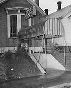 Y-481010-08. Nance's Bar B-Q Pit, 31 NE Cherry Court, between NE Williams Court and NE Halsey, Portland Oct 10, 1948 These streets do not exist anymore because this area of land was converted to the site of the Memorial Coliseum in 1957.