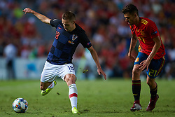 September 11, 2018 - Elche, Alicante, Spain - Marko Rog and Dani Ceballos competes for the ball during the UEFA Nations League football match between Spain and Croatia at Martinez Valero Stadium in Elche on September 11, 2018  (Credit Image: © Sergio Lopez/NurPhoto/ZUMA Press)