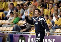 Fotball<br /> SAS Cup NM Norgesmesterskap 4. runde<br /> 25.07.07<br /> Åråsen Stadion<br /> Lillestrøm LSK - Aalesund AaFK<br /> Per Joar Hansen - Perry<br /> Foto - Kasper Wikestad
