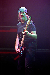 Roger Glover Guitarist with the legendry Rock Band Deep Purple, Rocking the Sheffield City Hall audience on Feb 12 2002. The two hour set,  part of the bands 2002 - 2003 world tour featured many of the old classics, When a Blindman Cries, Hush,Smoke On The Water, Black Night, Woman from Tokyo, Highway Star, Lazy alnong with some of the newer numbers and one Brand new and as yet unrecorded song.
