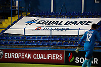 PODGORICA, MONTENEGRO - JUNE 07: UEFA Equal Game post during the 2020 UEFA European Championships group A qualifying match between Montenegro and Kosovo at Podgorica City Stadium on June 7, 2019 in Podgorica, Montenegro MB Media