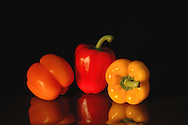 Orange, Red and Yellow Peppers