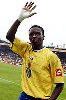 Fotball <br /> FIFA World Youth Championships 2005<br /> Tilburg<br /> Nederland / Holland<br /> 12.06.2005<br /> Foto: ProShots/Digitalsport<br /> <br /> Colombia v Italia<br /> <br /> wason renteria