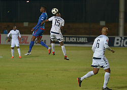 The ABSA Premiership match that took place at the Bidvest Wits stadium on Saturday night between Bidvest  Wits F.C.  and Supersport United F.C. up to Half time. Wits Buhle Mkhwanaza 15 on the ball <br /> Picture: Timothy Bernard African News Agency/ANA