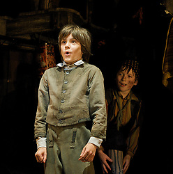 Oliver!<br /> by Lionel Bart<br /> at the Theatre Royal, Drury Lane, London, Great Britain<br /> press photocall<br /> 12th January 2009<br /> <br /> <br /> Laurence Jeffcoate (as Oliver)