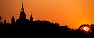 Supraśl. Prawosławny klasztor o zachodzie słońca