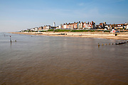 View from the pier of the historic seaside resort town of Southwold, Suffolk, England